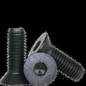 "#0-80x1/2"" (FT) Flat Socket Caps Fine Alloy Thermal Black Oxide (100/Pkg.)"