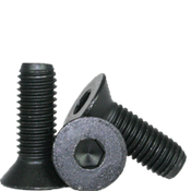 "#1-64x1"" (PT) Flat Socket Caps Coarse Alloy Thermal Black Oxide (100/Pkg.)"