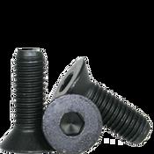 "#8-36x1/2"" (FT) Flat Socket Caps Fine Alloy Thermal Black Oxide (100/Pkg.)"