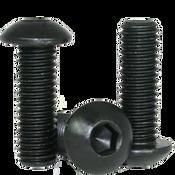 """#0-80x1"""" (FT) Button Socket Caps Fine Alloy Thermal Black Oxide (100/Pkg.)"""