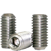 "#0-80x3/8"" Socket Set Screws Cup Point Fine 18-8 Stainless (100/Pkg.)"