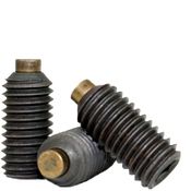 "1/4""-28x1"" Brass-Tip Socket Set Screws Cup Point Fine Alloy (100/Pkg.)"
