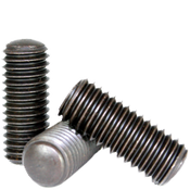 "#10-24x7/8"" Socket Set Screws Oval Point Coarse Alloy Thermal Black Oxide (100/Pkg.)"