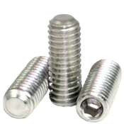 "#10-24x3/16"" Socket Set Screws Flat Point Coarse 18-8 Stainless (100/Pkg.)"