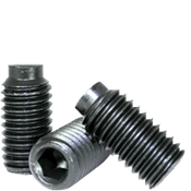 "#10-24x3/16"" Socket Set Screws 1/2 Dog Point Coarse Alloy Thermal Black Oxide (100/Pkg.)"