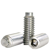 "#10-24x1/4"" Socket Set Screws 1/2 Dog Point Coarse 18-8 Stainless (100/Pkg.)"
