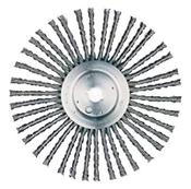 "Expansion Joint Wire Wheel for Walk-Behind Street Saws - Carbon Steel - 12"" x 3/8"" x 1"" DPH, Mercer Abrasives 185010 (6/Bulk Pkg.)"