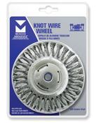 "Stringer Bead Wire Wheels for Right Angle Grinders - Carbon Steel - 4"" x 3/16"" x 5/8"" -11 ( M10 x 1.25, M10x 1.5), Mercer Abrasives 186010 (6/Bulk Pkg.)"