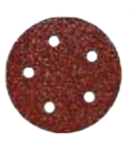 "Aluminum Oxide Red Heavy Discs - Hook and Loop - 6"" x 6 Dust Holes, Grit/ Weight: 40F, Mercer Abrasives 580604 (50/Pkg.)"