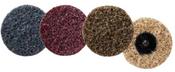 "Quick Change Surface Conditioning Discs - 3"" Threaded Male Hub - Fine Grade, Mercer Abrasives 3913BLUEF (25/Pkg.)"