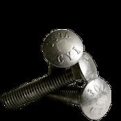 "1/2""-13x18"" 6"" Thread Under-Sized Carriage Bolts A307 Grade A Coarse HDG (50/Bulk Pkg.)"