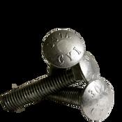 "1/2""-13x12"" 6"" Thread Under-Sized Carriage Bolts A307 Grade A Coarse HDG (50/Bulk Pkg.)"