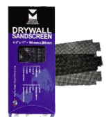 "Drywall Sandscreen Sheets - 4-1/8"" x 11"", Grit: 120, Mercer Abrasives 250120 (25/Pkg.)"
