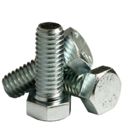 "1""-8x10-1/2 6"" Thread Hex Bolts  A307 Grade A Coarse Zinc Cr+3 (30/Bulk Pkg.)"