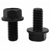 "1/2""-13 x 1-3/4"" (FT) Grade 8 Indented Hex Flange Screw (Frame Bolt) Black Phosphate & Oil (250/Bulk Pkg.)"