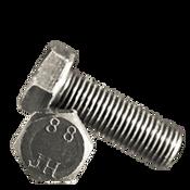 M10-1.25x25 MM (FT) Hex Cap Screws 8.8 DIN 961 Fine Med. Carbon Plain (750/Bulk Pkg.)
