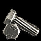 M10-1.00x50 MM (FT) Hex Cap Screws 8.8 DIN 961 Extra Fine Med. Carbon Plain (500/Bulk Pkg.)