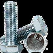 M6-1.00x120 MM (PT) DIN 931 / ISO 4014 Hex Cap Screws 8.8 Coarse Med. Carbon Zinc CR+3 (700/Bulk Pkg.)