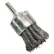 "Knot End Brushes for Drills and Die Grinders - Stainless Steel - 1"" x 1/4"" Shank, Mercer Abrasives 181020B (20/Bulk Pkg.)"