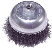 "Crimped Cup Brushes for Right Angle Grinders - Carbon Steel - 4"" x 5/8""-11, Mercer Abrasives 188030 (6/Bulk Pkg.)"