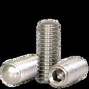 "#10-24x1/2"" Socket Set Screws Oval Point Coarse 18-8 Stainless (2,500/Bulk Pkg.)"