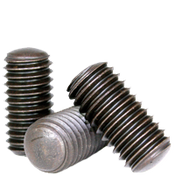 "#10-24x3/8"" Socket Set Screws Oval Point Coarse Alloy Thermal Black Oxide (5,000/Bulk Pkg.)"