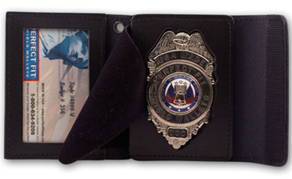 Perfect Fit Badge and ID Case w/Velcro Closure (Custom Cutout)