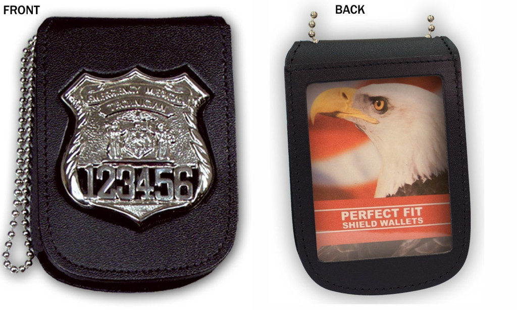 Perfect Fit Recessed Badge/ID Neck Holder (w/Velcro)