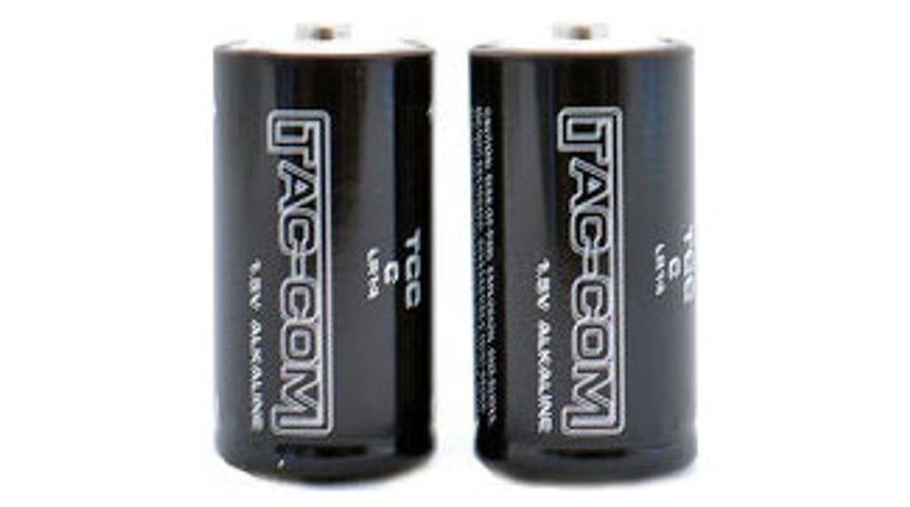 Tac-Com C-cell Alkaline Batteries (2-PACK)