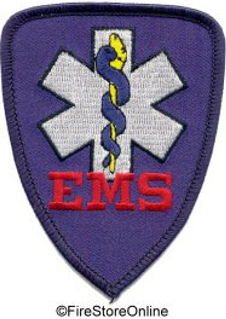 Patch - EMS (royal w/black border)