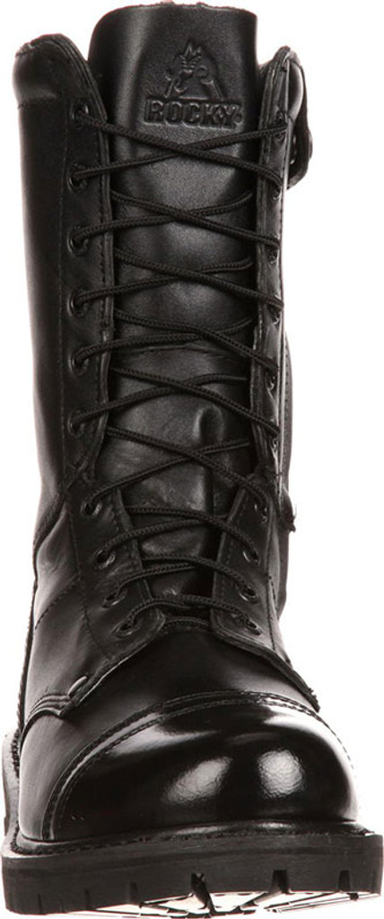 """Rocky Men's 10"""" Paratrooper Side Zipper Jump Boots (All Leather)"""