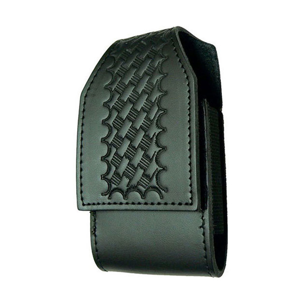 iPhone Duty Case w/CLIP (LEATHER - BASKETWEAVE BLACK)