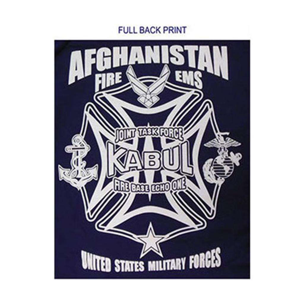 Afghanistan Kabul Fire/EMS Duty T-shirt (USA Task Force)