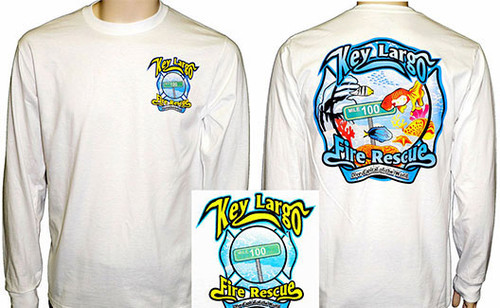 Key Largo Fire Department LONGSLEEVE Duty T-Shirt (White)