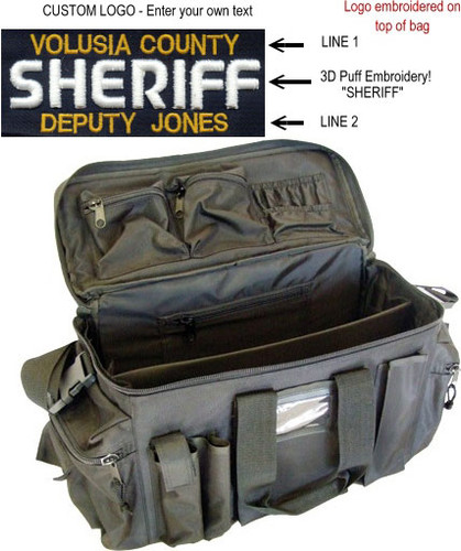 Custom SHERIFF Deluxe Gear Bag (by Strong) - 3D PUFF EMBROIDERY!