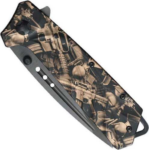 Tactical Knife Assisted Opening with AR15 Imprint Handle
