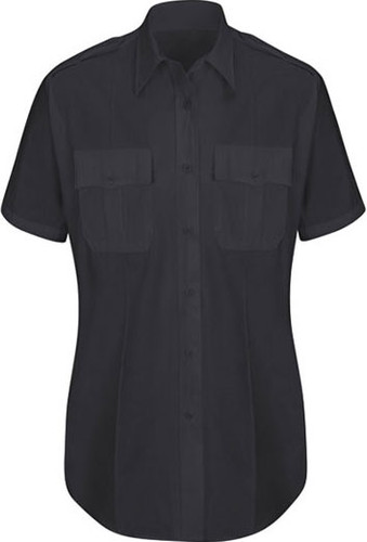 Horace Small New Dimension® Plus Short Sleeve Poplin Shirt - Women's