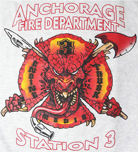 Anchorage Fire Department Station 3 Fleece Sweatshirt (Grey)