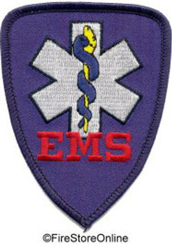 Patch - EMS (royal w/black border)