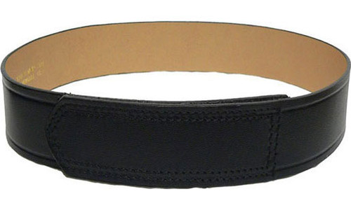 DutyMan Leather Trouser Belt w/Velcro Tip (Plain Black)