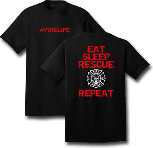 #FIRELIFE T-Shirt (Black)