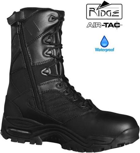"""Ridge Ultimate 8"""" Side Zip Duty Boot (Waterproof / Anti-Microbial) - Size 5.5M / 7 Women [50% Off]"""