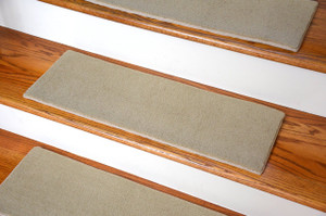 "Dean Indoor/Outdoor Skid-Resistant DIY Carpet Stair Treads - Lake City Beige 27"" x 9"""