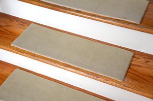 Dean Indoor/Outdoor Skid Resistant DIY Carpet Stair Treads   Lake City  Beige 27