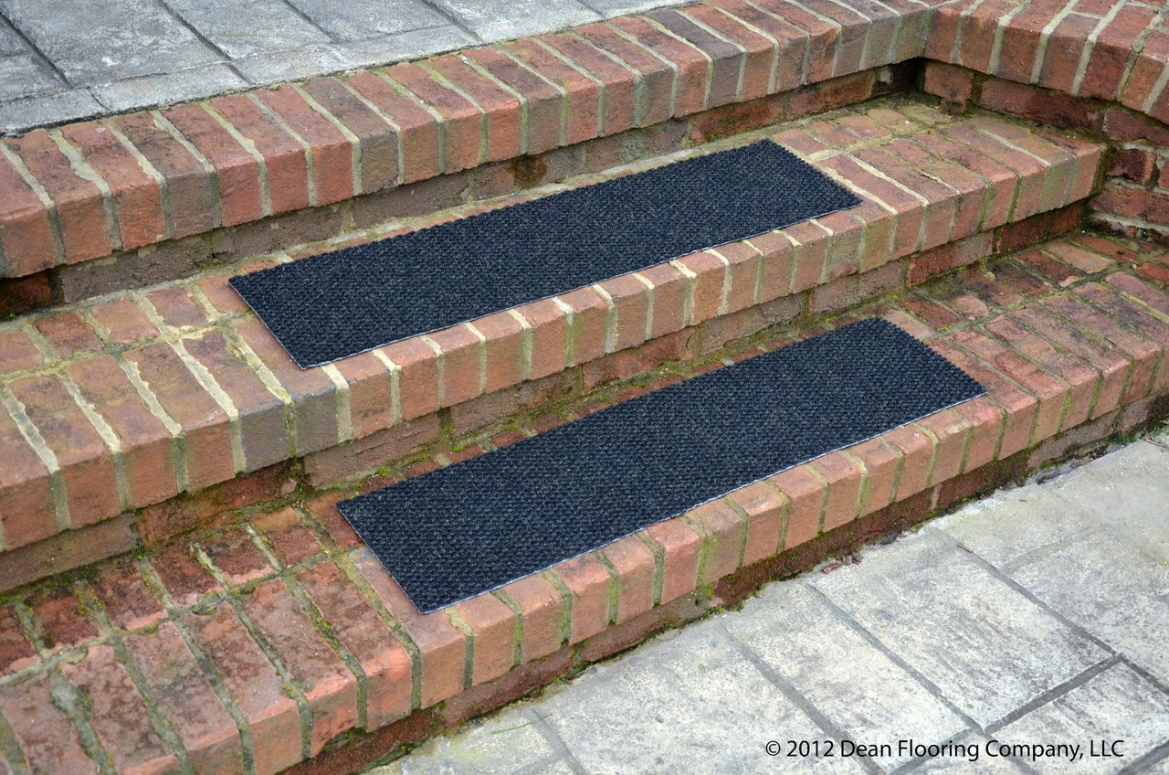 Dean Indoor Outdoor Non Skid Carpet Stair Treads Black