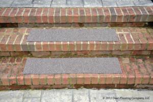 """Dean Premium Indoor/Outdoor Carpet Non Skid Stair Treads - Beige Sand 24"""" x 9"""" (Set of 4)"""