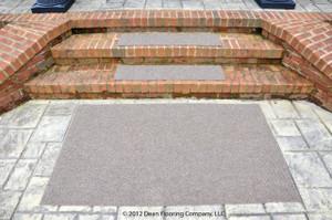 "Dean Premium Indoor/Outdoor Carpet Non Skid Stair Treads and Mat - Beige Sand 36"" x 9"" (Set of 3) Plus a Matching 3' x 5' Landing Mat"
