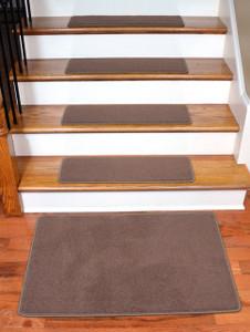 "Dean Premium Stainmaster Nylon Carpet Stair Treads - Odette Point Mantle (13) 30"" x 9""  Plus 2' x 3' Landing Mat"