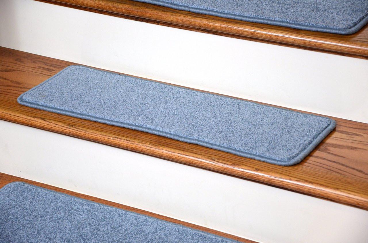 Dean Premium Carpet Stair Treads 27 Quot X 9 Quot Sky Blue Plush