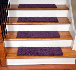 "Dean Ultra Premium Stair Gripper Non-Slip Tape Free Pet Friendly DIY Carpet Stair Treads/Rugs 30"" x 9"" (15) - Color: Amethyst Purple"